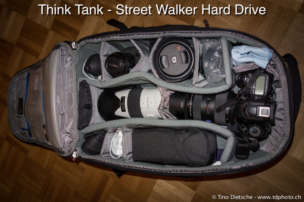 Packbeispiel: Think Tank Street Walker Harddrive